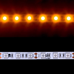 EnvironmentalLights - Amber 5050 LED Strip Light 60/m 10mm wide Foot - Sold by the 5 meter reel, foot and sample kit.