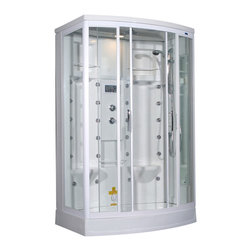 Ariel - Ariel ZA213 Steam Shower 56x38x85 - Left - These fully loaded steam showers include massage jets, ceiling & handheld showerheads, and built in radios to help maximize the therapeutic experience.