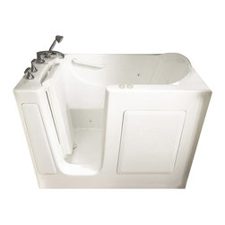American Standard - 31 inch x 51 inch Walk-In Combo Tub with Left Drain in White - American Standard 3151.201.CLW 31 inch x 51 inch Walk-in Combo Tub with Left Drain in White.