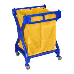 Luxor - Luxor Laundry Cart - HL13 - The Luxor HL13 is a commercial folding laundry cart that folds for easy storage
