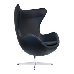 """IFN Modern - Egg Inspired Chair with Available Ottoman - Product DimensionsOverall Dimensions: 41\"""" H x 34.25\"""" W x 31\"""" D"""