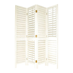 Wayborn - Wayborn Venetian Room Divider in Whitewash - Wayborn - Room Dividers - 2243 -