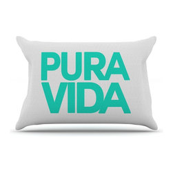 "Kess InHouse - Geordanna Cordero-Fields ""Turquoise Pura Vida"" Blue White Pillow Case, King (36"" - This pillowcase, is just as bunny soft as the Kess InHouse duvet. It's made of microfiber velvety fleece. This machine washable fleece pillow case is the perfect accent to any duvet. Be your Bed's Curator."
