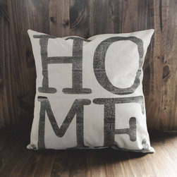 """Home"" Pillow Cover by Parris Chic Boutique - Homes should feel inviting, right? This muslin pillow by Etsy seller Parris Chic Boutique would make a room feel so homey! Add it to a mix of throw pillows that are soft, full of texture and totally cuddle-worthy for the full effect."