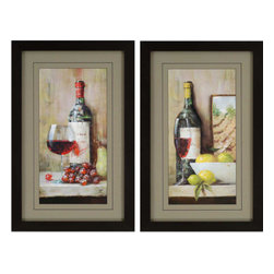 Paragon - Vintage Wine PK/2 - Framed Art - Each product is custom made upon order so there might be small variations from the picture displayed. No two pieces are exactly alike.