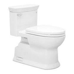 """Toto - Toto MS964214CEFG#01 Cotton Eco Soiree Eco Soiree One Piece Elongated - 1.28GPF ADA Compliant One-Piece Elongated Toilet with SanaGloss and SoftClose SeatWhen it comes to Toto, being just the newest and most advanced product has never been nor needed to be the primary focus. Toto s ideas start with the people, and discovering what they need and want to help them in their daily lives. The days of things being pretty just for pretty s sake are over. When it comes to Toto you will get it all. A beautiful design, with high quality parts, inside and out, that will last longer than you ever expected. Toto is the worldwide leader in plumbing, and although they are known for their Toilets and unique washlets, Toto carries everything from sinks and faucets, to bathroom accessories and urinals with flushometers. So whether it be a replacement toilet seat, a new bath tub or a whole new, higher efficiency money saving toilet, Toto has what you need, at a reasonable price.Sophisticated contemporary design Double Cyclone(R) flushing system SanaGloss(R) ceramic glaze available Universal Height Decorative one-piece with skirted design and high profile tank Elongated front bowl with SoftClose(R) seat Chrome trip lever 12"""" Unifit rough-in, less supply SS214 SoftClose Seat Included"""