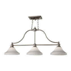 Feiss - Feiss F2779/3BS Cumberland 3 Light Brushed Steel Chandelier - Finish: Brushed Steel