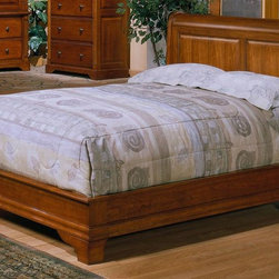 Winners Only - Americana Low Profile Sleigh Bed (King) - Choose Bed Size: KingMade from wood. Cherry finish. Minimal assembly required. Queen Bed: 87 in. L x 65 in. W x 50 in. H (196 lbs.). King Bed: 87 in. L x 82 in. W x 50 in. H (235 lbs.). California King Bed: 91 in. L x 78 in. W x 50 in. H (235 lbs.)