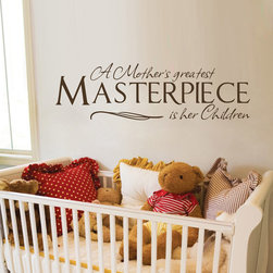 ColorfulHall Co., LTD - Wall Decals for Kids A Mother's Greatest Masterpiece is Her Children - Wall Decals for Kids A Mother's Greatest Masterpiece is Her Children
