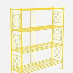 Brimfield Bookcase - If you are a big fan of neon, like myself, this bookcase will not only fit any budget, but it will also satisfy your taste for color.