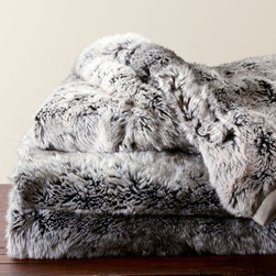 Faux Fur Throw, Gray Ombré - Bring in texture and warmth with a cozy throw, especially when it's faux fur! It's less literal ode — but still a little nod — to animal decor.