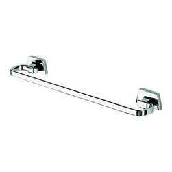 Geesa - 20 Inch Chrome Towel Bar - Towel rail 19.5 inch. Chrome plated brass. Towel bar for a decorative master bathroom. Designer 20 inch towel hanger. Extremely high quality brass, finished with chrome. Made by Geesa in Netherlands.