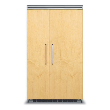 """48"""" Custom Panel Side-by-Side Refrigerator/Freezer - FDSB5483 - The Custom Panel model blends seamlessly into cabinetry with locally supplied front panels. You may choose Viking Professional handles or opt for custom handles. ENERGY STAR® certified."""