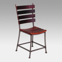 2 Day Designs - 2 Day Designs Reclaimed Wine2Night Stave Back Dining Chair Multicolor - 4087D - Shop for Dining Chairs from Hayneedle.com! Add rustic charm to your kitchen with the Wine2Night Stave Back Dining Chair. Constructed of recycled oak wine barrels this stylish dining chair has a slatted design shaped wooden seat and contoured back for comfort. The warm pine finish blends with any decor while the wrought-iron frame and fine craftsmanship ensure that this chair is built to last.About 2-Day Designs Inc.2-Day Designs Inc. is a proud manufacturer of unique home furnishings. For those looking for a little something different browse the company's collections and you will certainly find it with designs that will make a statement in any room of your home. From dining tables and chairs to occasional tables and from hutches and cupboards to keepsake boxes and trunks you are sure to fall in love with something from the 2-Day Designs collections. Environmentally conscious 2-Day Designs uses recycled antique lumber whenever possible. All 2-Day Designs pieces are crafted with the highest quality standards from start to finish.