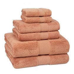 Kassatex - Kassatex Elegance Collection 6 pc. Set, Cayenne - Calgon, take me away! The extra fluff and absorbency of this luxurious towel set will leave you daydreaming about your next shower all day long. Who knew cotton could be so seductive?