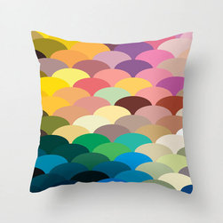 Scale Spectrum Pillow Cover in Pastel - Celebrate color with this remarkable fish scale-patterned pillow cover. Whether you love a maritime theme or just love it for its riot of hues, it'll be a bright spot in your home.