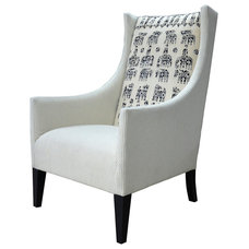 Eclectic Armchairs And Accent Chairs by Kathy Kuo Home