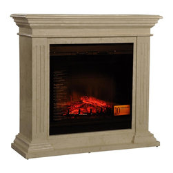 Ambella Home - New Ambella Home Electric Fireplace Fluted - Product Details