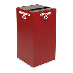 Witt Industries - Witt Industries Geo Cubes 28 Gallon Scarlet Recycling Bin Multicolor - 28GC01-SC - Shop for Recycling Bins from Hayneedle.com! Make recycling easy with the Witt Industries Geo Cubes 28 Gallon Scarlett Recycling Bin. The scarlet color is both stylish and bold making it easy to spot. This recycling bin comes with a lid to accommodate whatever you have in mind. Simply choose the lid that will work with your recyclables. All tops include clearly marked decals to keep other items from being thrown in and getting mixed up with the recyclables. Compact and fire safe steel construction makes this bin durable and long lasting. The bin holds up to 28 gallons and measures 15L x 15W x 28H.About Witt IndustriesWith its rich and established history in the steel waste receptacle manufacturing industry that dates back to 1887 Witt Industries has been in the forefront with its innovation quality and service. The company's founder George Witt invented and patented the first corrugated galvanized ash can and lid back in 1889 and the company has never looked back. Today Witt Industries is part of the Armor Metal Group and is a woman-owned business.