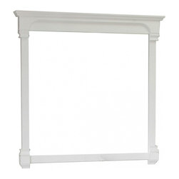 """Bellaterra Home - Rectangular Solid Wood White Frame Mirror - Solid wood construction frame with high quality mirror to withstand bathroom humidity. Frame Dimensions: 42""""W X 41.5""""H X 2.4""""D; Finish: White; Material: Birch ; Beveled: No; Shape: Rectangular; Weight: 41.4; Included: Brackets, Ready to Hang"""