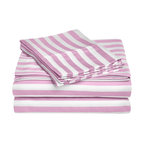 "Cotton Rich 600 Thread Count Cabana Kids Sheet Set - Twin XL - Hunter Green - This Cotton Rich Sheet set features bright cabana colors and child friendly sizes. Our 600 Thread Count Cotton Rich Cabana Kids Sheet Set is a superior quality blend of 55% Cotton and 45% Polyester making these duvets soft, wrinkle resistant, and easy to care for. Set includes: Flat Sheet(66"" x 100""),  Fitted(39"" x 80""), and Two Pillowcases(20"" x 30"")."