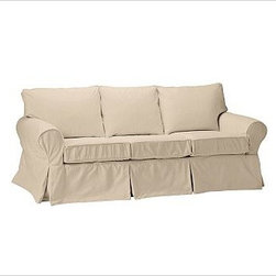 """PB Basic Slipcovered Sleeper Sofa, Polyester Wrap Cushions, Twill Camel - Our PB Basic Collection is crafted with the same attention to quality, detail and durability that's been the hallmark of American-made furniture for hundreds of years. The sleeper sofa has long been a relaxed, comfortable favorite. 83"""" w x 35"""" d x 35"""" h {{link path='pages/popups/PB-FG-Basic-3.html' class='popup' width='720' height='800'}}View the dimension diagram for more information{{/link}}. {{link path='pages/popups/PB-FG-Basic-6.html' class='popup' width='720' height='800'}}The fit & measuring guide should be read prior to placing your order{{/link}}. Polyester wrapped cushions provide a tailored and neat look. Proudly made in America, {{link path='/stylehouse/videos/videos/pbq_v36_rel.html?cm_sp=Video_PIP-_-PBQUALITY-_-SUTTER_STREET' class='popup' width='950' height='300'}}view video{{/link}}. For shipping and return information, click on the shipping info tab. When making your selection, see the Special Order fabrics below. {{link path='pages/popups/PB-FG-Basic-7.html' class='popup' width='720' height='800'}} Additional fabrics not shown below can be seen here{{/link}}. Please call 1.888.779.5176 to place your order for these additional fabrics."""