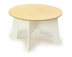 Offi - Offi Play-a-Round Activity Table w White Finish Base & Natural Top (Set of 2) - Designed by Roberto Gil from Casa Kids Collection Design, Inc. - Brooklyn, NY. Made from white non-toxic-painted MDF and baltic birch plywood. 30 in. Diameter x 20 in. H. Assembly InstructionsThe Play-a-round activity table is designed to provide support for hours of playing and creative table activities. It combines the clean and simple structure of other Offi Kids furniture pieces, and can accommodate four mini-drawer chairs.