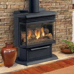 Majestic Fairfield RFSDV Series 26'' x 32'' DV Gas Stove - The Fairfield stove's contemporary style is matched by its sophisticated venting and control systems. This direct vent gas stove is a snap to operate, bringing light and warmth to any space.