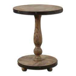 Uttermost - Uttermost 24268 Kumberlin Wooden Round Table - Uttermost 24268 Kumberlin Wooden Round Table