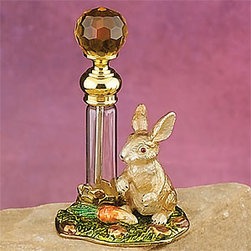 Artico - 3 1/4 Inch Perfume Bottle, Rabbit - This gorgeous 3 1/4 Inch Perfume Bottle, Rabbit has the finest details and highest quality you will find anywhere! 3 1/4 Inch Perfume Bottle, Rabbit is truly remarkable.