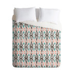 DENY Designs - Loni Harris Tribal Beat Duvet Cover - Turn your basic, boring down comforter into the super stylish focal point of your bedroom. Our Luxe Duvet is made from a heavy-weight luxurious woven polyester with a 50% cotton/50% polyester cream bottom. It also includes a hidden zipper with interior corner ties to secure your comforter. it's comfy, fade-resistant, and custom printed for each and every customer.