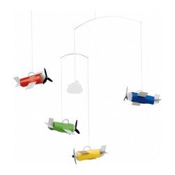 Flensted Mobiles - Aeromobile - This very charming 3-dimensional mobile is very popular - as children love aeroplanes.