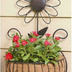 Deer Park Ironworks Daisy Wall Basket with Coco Liner - Daisies are cute, and they go just about anywhere – especially in the case of this adorable Deer Park Ironworks Daisy Wall Basket with Coco Liner. Perfect for hanging on a wall outdoors or even inside, our daisy-adorned wall basket will make a nice home for a flowering plant. It's made of heavy gauge steel and has a natural patina powder-coated finish to give it a look that blends well with all sorts of home decor. Our wall basket also comes with a form-fitted coco liner to help with retaining soil and water.About Deer Park Ironworks Deer Park Ironworks has a reputation as a premier wrought iron lawn and garden company. They create timeless designs with quality materials and price them at competitive rates. All of their products are made from heavy gauge steel and have a durable powder-coated finish, which are Earth-friendly since they emit zero, or near zero, volatile organic compounds. Deer Park's powder-coating finishes also produce a much thicker coating than conventional liquid coatings that sometimes run or sag. Furthermore, Deer Park's products feature a unique natural patina appearance that complements any decor or color scheme. And their decorative baskets, wall planters, and window boxes come with a fitted coco liner that is a natural product that helps with proper drainage and provides a healthy environment for your plants to grow.
