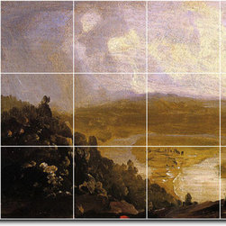 Picture-Tiles, LLC - Mount Holyoke After A Thunderstorm Tile Mural By Thomas Cole - * MURAL SIZE: 36x60 inch tile mural using (15) 12x12 ceramic tiles-satin finish.