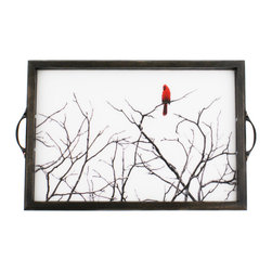 My Méz - Cardinal Tray/Wall Art - It's a tray; It's wall art. It's BOTH, and It's Made In the USA!