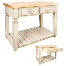 Traditional Kitchen Islands And Kitchen Carts by HomeThangs