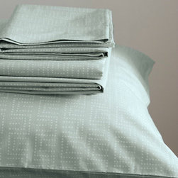 Eileen Fisher Washed Organic Cotton Percale Bedding - I bet this organic cotton set in mint feels as good as it looks.