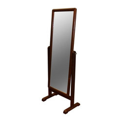 Used Danish Modern Teak Standing Mirror - Fabulous 1960's modern Danish teak standing mirror, this piece is in good vintage condition with some wear due to age and use. A hot item for the bedroom corner or a walk in closet!