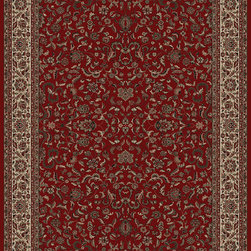 "Concord Global - Concord Global Persian Classics Kashan Red 2' x 7'7"" Rug (2020) - The majority of designs in this collection are replicas of antique Persian rugs. In this 1 million point per square meter quality the colors and fine denier yarn are purposely chosen to give the look of the original hand made old rugs. These classic Persian style rugs are so elegant that they would convert your rooms into most beautiful atmosphere instantly. Persian Classics collection has the world's most popular designs and offers the best quality-value combination"
