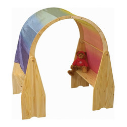 Little Colorado - Little Colorado Wooden Playhouse - 01214NA - Shop for Wall Hooks Shelves and Racks from Hayneedle.com! Any room in the house is transformed into an imaginary land when the Little Colorado Wooden Playhouse is in view. Crafted with solid pine in your choice of finished or unfinished this set of two play stands and an arched top can be connected to form a dedicated play area. Simply drape sheer silk or other fabric over the top clip it in place and kids instantly have a private little imaginarium of their own. Stash toys games and books on the wide shelves too. About Little ColoradoBegun in 1987 Little Colorado Inc. creates solid wood hand-crafted children's furniture. It's a family-owned business that takes pride in building products that are classic stylish and an excellent value. All Little Colorado products are proudly made in the U.S.A. with lead-free paints and materials. With a look that's very expensive but a price that is not Little Colorado products bring quality and affordability to your little one's room.
