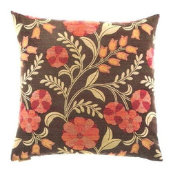 "Canaan - 24"" x 24"" Cottage Inn Country Style Floral Pattern Throw Pillow - Cottage inn country style floral pattern throw pillow with a feather/down insert and zippered removable cover. These pillows feature a zippered removable 24"" x 24"" cover with a feather/down insert. Measures 24"" x 24"". These are custom made in the U.S.A and take 4-6 weeks lead time for production."