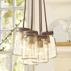 Eclectic Pendant Lighting by Pottery Barn