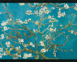 Amanti Art - Almond Branches in Bloom, San Remy, detail (ii) Framed with Gel Coated Finish - With haunting strokes of coarse lines and striking color, Vincent Van Gogh painted a legacy of the world's most coveted art during the short span of 10 years.