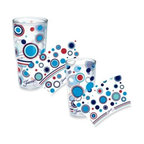 Fiesta - Tervis Fiesta Americana Wrap Tumblers - Display your bubbly personality every time you take a sip of your favorite drink out of these fun and dynamic Fiesta Americana wrap tumblers. Tervis Tumblers boast double-walled insulation to keep cold drinks cold and hot drinks hot longer.