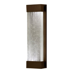 Fine Art Lamps - Crystal Bakehouse Clear Crystal Sconce, 811050-13ST - Rugged yet refined, this handsome wall sconce can be used indoors or out. The sleek bracket supports a hand-crafted block of crystal shards, which emit a soft, serene glow from the CFL bulbs secured at either end.