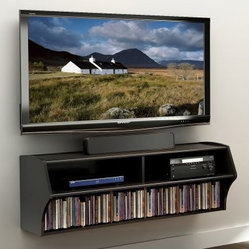 Altus Wall Mounted Media Storage - Black