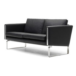 Wegner CH102 Sofa - Hans J. Wegner designed this series in the early 70s with the Danish firm Johannes Hansen, producing a limited number at that time. While there has been no production since then, a few pieces have appeared in auctions during recent years and their rarity and beauty have kept prices high. Carl Hansen & Son was chosen by the Hans J Wegner Studio to relaunch the series on the occasion of Carl Hanson & Son's 100th anniversary in 2008 (hence the series name CH100).