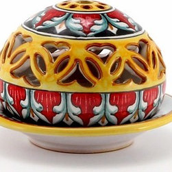 Artistica - Hand Made in Italy - DERUTA VARIO: Tea Light Lantern - DERUTA VARIO Collection: Over 500 years of artistic heritage has produced a multitude of ceramic artists in the Italian town of Deruta.