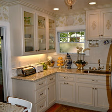 Traditional  Tiny French Country Kitchen