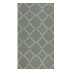 Uttermost - Contemporary Bermuda 8'x10' Rectangle Baby Blue, Natural Area Rug - The Bermuda area rug Collection offers an affordable assortment of Contemporary stylings. Bermuda features a blend of natural Indigo, Natural color. Flat Weave of Wool the Bermuda Collection is an intriguing compliment to any decor.